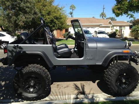 jeep matte grey find used cj7 lifted matte grey jeep 1980 38x15 5x18