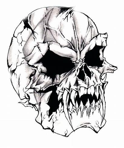 Skull Scary Drawing Drawings Cool Skulls Clipartmag