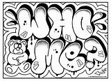 Coloring Graffiti Cool Pages Popular Draw Omg Room Signs sketch template