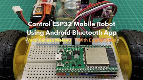 control esp mobile robot  android bluetooth app
