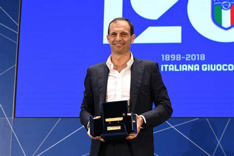 Panchina D Oro by Calcio Massimiliano Allegri Vince La Quot Panchina D Oro