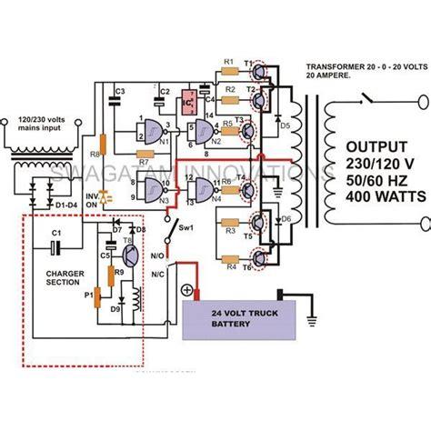 build   watt high power inverter circuit  built  charger homemade circuit