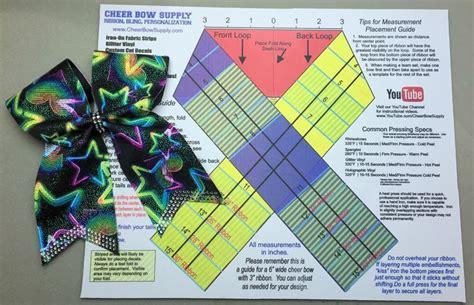 cheer bow template mat measurement ribbon guide cheer