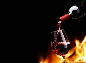 wine red glass a bottle flame fire black background HD ...