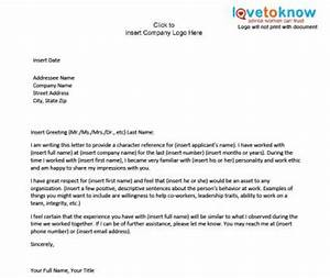 personal character reference letter template