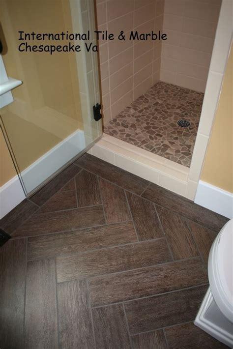 Bathroom Floors Herringbone Chevron Pattern Faux Wood Tile