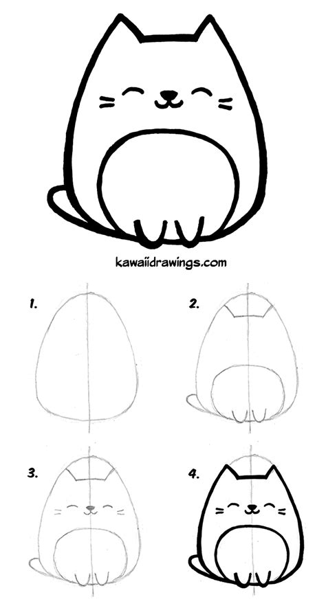 draw kawaii cat   easy steps kawaii drawing