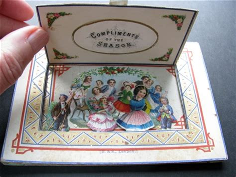 Dean And Son 1867 Christmas Tunnel Book Style Pull Out Peep Show