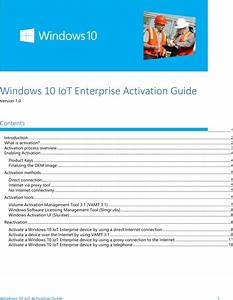 Windows 10 Io T Enterprise Activation Guide