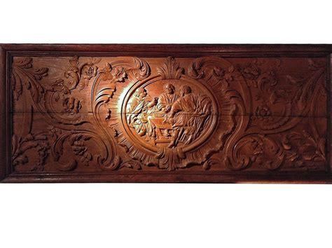 spectaculaire panneau de bois sculpte xviie siecle