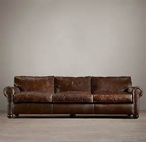 restoration hardware lancaster sleeper sofa lancaster leather sofa