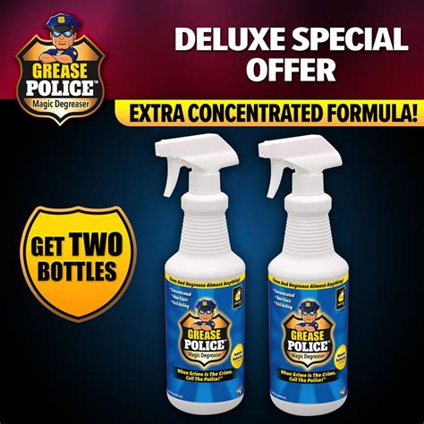 deluxe grease police magic degreaser  pack bulbhead