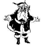 Santa with reindeer | Free SVG