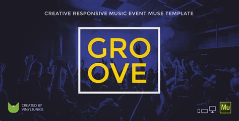 Music Event / Party / Festival Responsive Muse