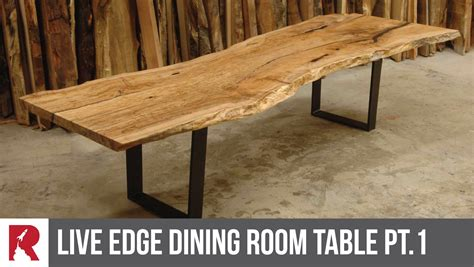 Bar In Kitchen Ideas - making a live edge dining table part 1 rocket design furniture youtube