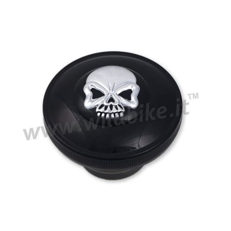 gas cap skull black with for harley davidson xl sportster
