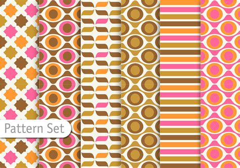 colorful retro pattern design   vector art