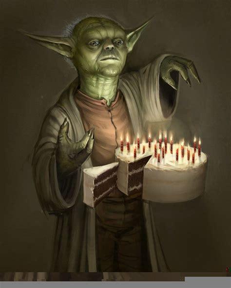 yoda s birthday cake greetings gl 252 ckw 252 nsche