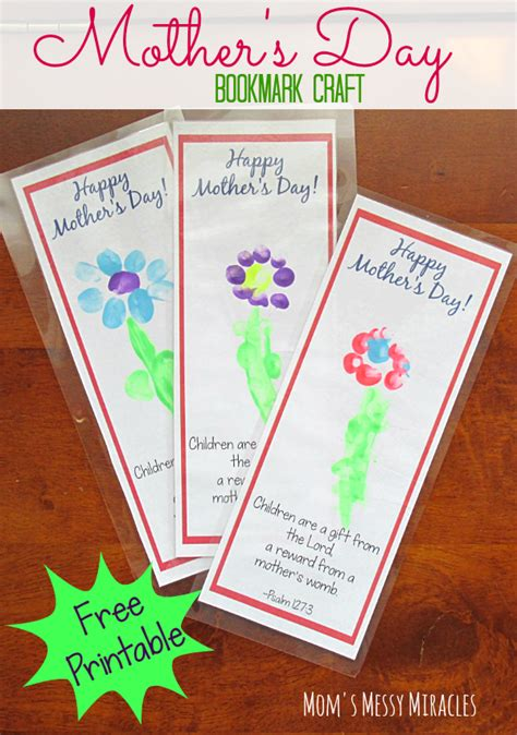 printable bookmark craft  mothers day mothers
