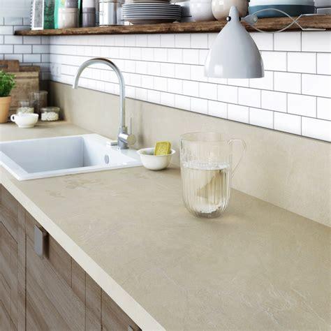 plan de travail cuisine stratifié leroy merlin plan de travail stratifié crème mat l 315 x p 65 cm