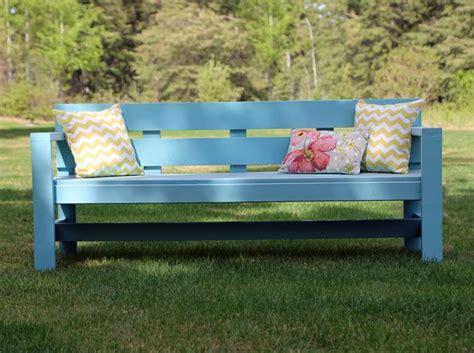 modern park bench outdoor furniture plans diy outdoor