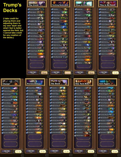 Hearthstone Deck Types Reddit by S Constructed Decks Hearthstone