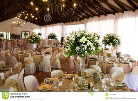 indoors wedding reception venue  decor stock image