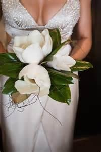 Magnolia Flower Wedding Bouquets