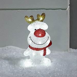 Weihnachtsbeleuchtung Aussen Figuren : led acryl figur rentier led deko elch figur weihnachten 30cm lights4fun eur 49 99 picclick de ~ Buech-reservation.com Haus und Dekorationen
