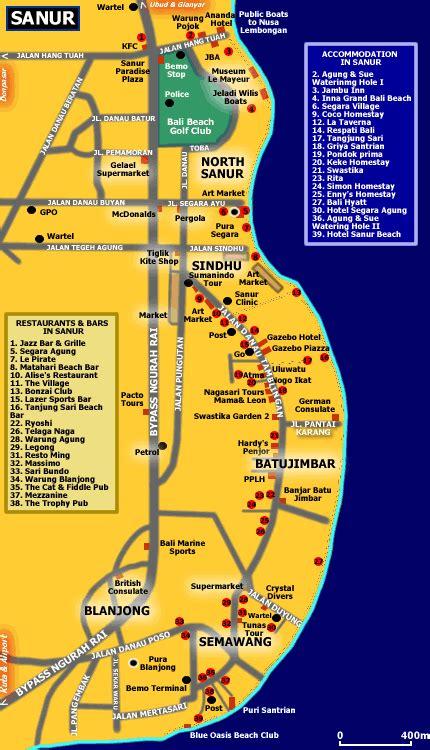 map  sanur bali blog bali   bali travel