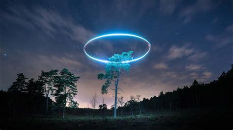 amazing drone halo dji phantom  pro lume cubes youtube