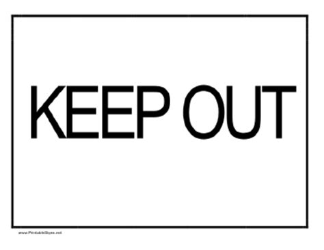 Keep Out Coloring Pages Democraciaejustica