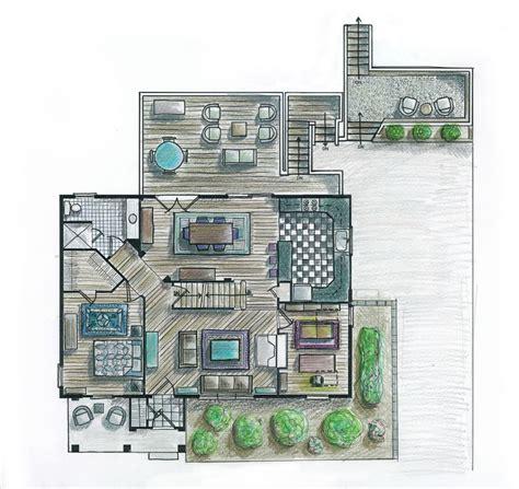 floor plan hand rendered rendered drawings