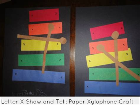 show and tell letter x paper xylophone craft 45355