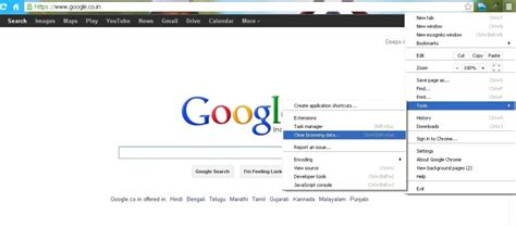 chrome how to clear cache and cookies on chrome browser