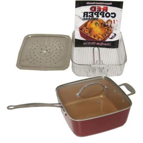 red copper  stick square ceramic cookware  piece