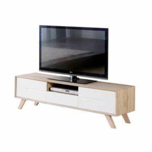 Meuble Tv Carrefour : marque generique meuble tv bois d cor san remo avec tiroir 2 portes pieds en pin massif ~ Teatrodelosmanantiales.com Idées de Décoration