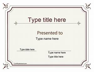 blank certificate excellence award certificate With joke certificate templates