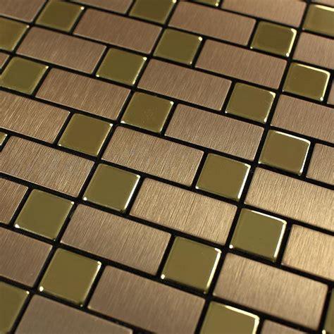 metal kitchen wall tiles brushed metallic mosaic tiles stainless steel kitchen 7471