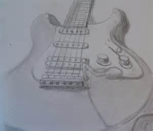 Electric Guitar Drawing