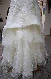 his hers and ours diy wedding gown bustle With how to make a bustle on a wedding dress