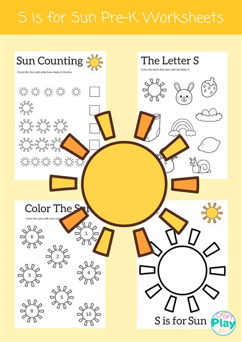 Letter S Worksheets For Preschool Kids - Craft Play Learn