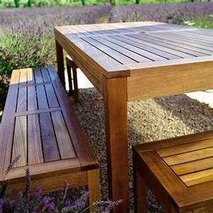 Table De Jardin Avec Banc : beautiful table de jardin bois avec banc gallery amazing ~ Melissatoandfro.com Idées de Décoration