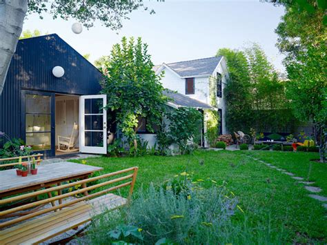 backyard guest house mix and chic home tour a charming guest house and