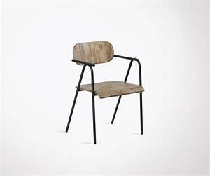 Chaise Exterieur Design : chaise ext rieur teck et fer style moderne marque hanjel ~ Teatrodelosmanantiales.com Idées de Décoration