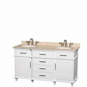 Wyndham collection wcv171760dwhivunrmxx berkeley double vani for Best brand of paint for kitchen cabinets with clearance candle holders