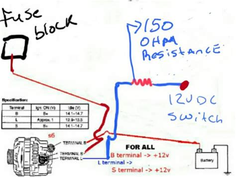 Wiring Diagram Alternator Starter