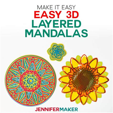 The design i use in this tutorial is the layered wheel mandala (design #192). Where To Find Free Layered 3D Mandalas