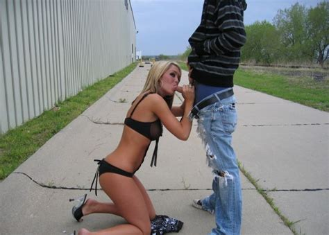slutty blonde hottie giving blowjob outdoors gallery is in comments blowjobs sorted by