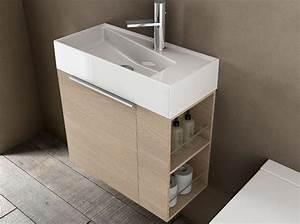 Meuble Pour Petite Salle De Bain : 40 meubles pour une petite salle de bains elle d coration ~ Dailycaller-alerts.com Idées de Décoration